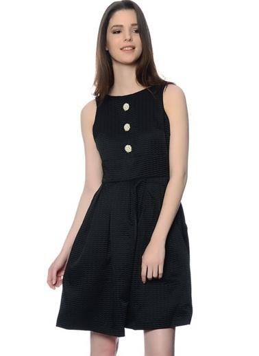 Darling Askılı Kloş Elbise Siyah